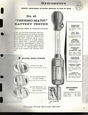 """Vintage 1967 EDELMANN No. 45 """"THERMO-MATIC"""" Battery Tester Jobbers SELL SHEET"""