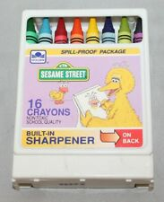 Vintage Sesame Street Package Set of 16 Crayons By Golden