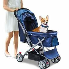 Pet Stroller for Cats Dogs Rabbit with Reversible Handle, Dog Stroller for