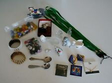 New listing Junk Drawer Lot - Marbles, Buttons, Ceramic Animals, Jewelry, Lanyards (lot A10)