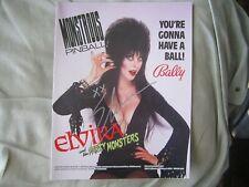 "Elvira Hand-Signed Original 1989 ""Party Monsters"" Pinball Machine Manual"