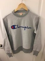 Champion Reverse Weave Speckled Logo Pullover (Grey) - Small