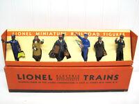 intage Lionel 550 Standard Gauge MINIATURE Railroad FIGURES +Box! PreWar Nice!