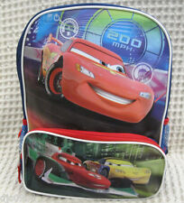 "Disney Pixar The Cars McQueen and Friends Racing 12"" Backpack Book Bag-New!"