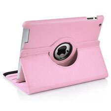 360 Degree Rotating PU Leather Case for Apple iPad 2, 3, 4 - Pink
