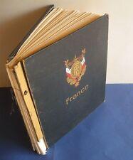 FRANCE:COLLECTION DE TIMBRES NEUFS/OBLITERES 1900-1959 FEUILLES ALBUM A ETUDIER