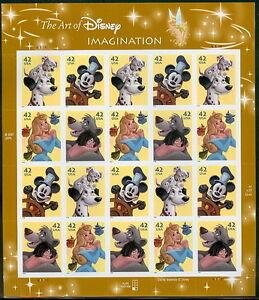 US #4342-5 42¢ Disney Imagination, Sheet of 20, self adhesive