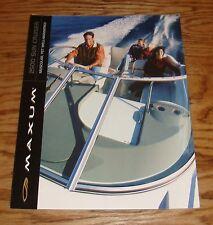 Original 2001 Maxum 2500 Sun Cruiser Boat Foldout Sales Brochure 01