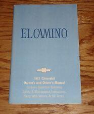 Original 1981 Chevrolet El Camino Owners Operators Manual 81 Chevy
