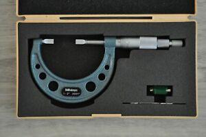 MITUTOYO DISC MICROMETER 1-2 INCH, MODEL 102-226, GRADUATION .0001
