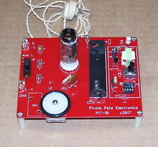 PCB 1-BATT science fair design UNBUILT vintage VACUUM TUBE AM radio receiver kit
