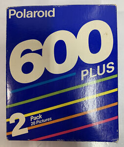 Vintage Polaroid 600 Plus Instant Color Film 2 Pack 20 Pictures New Old Stock