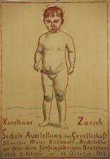 Original Plakat - Kunsthaus Zürich, Ferdinand Hodler