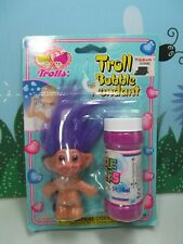 "1998 TROLL BUBBLE PENDANT - 3"" Imperial Troll Doll - NEW ON CARD"