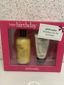 Philosophy Vanilla Birthday Cake Shampoo Shower Gel Creamy Frosting Lotion NEW