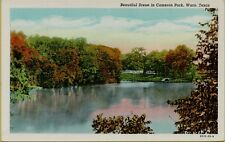 Beautiful Lake Scene in Cameron Park Waco Texas TX Postcard B32