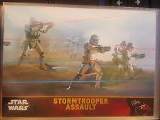 2015 Topps Star Wars The Force Awakens #64 Stormtrooper Assault GOLD 037/100