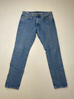 LEVI'S 512 SLIM TAPERED Jeans - W34 L30 - Navy - Great Condition - Men's