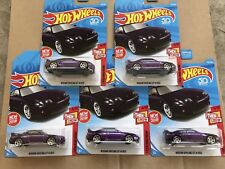 2018 Hot Wheels NISSAN SKYLINE GT-R R33 Then And Now Lot of 5 FIVE Cars Purple