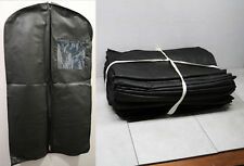 "25x Lot Breathable 54"" x 24"" Black Suit Dress Zip Up Garment Bag w/ Name Tag"