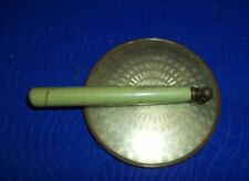 """Antique Adjustable Magnified Make-up Hand Mirror-3 1/2""""D W 4 1/2"""" Handle"""