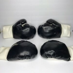 Vintage ROC Boxing Gloves 12 Oz Made In The Taiwan Black/White Sparring