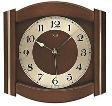 AMS -funk-wanduhr 27cm nussbaum- 5822/1 Reloj de pared con pilas quartzwe