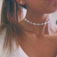 1PC Fashion Women Jewelry Silver Tone Charm Star Chain Chunky Choker Necklace