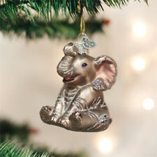 Little Elephant Glass Ornament