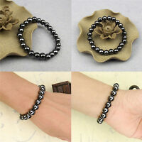 Weight Loss Round Stone Bracelet Health Care Magnetic Therapy Bracelet Black