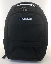 WENGER Fuse Laptop Backpack w/Tablet or eReader Pocket - Black