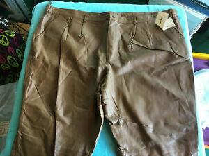 NWT Men's KS Brown Leather Pants Size 58 X 32 - T3