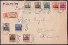 1919 Deutsches Reich / Freistaat Bayern O/P Registered Cover; Mundenheim;Germany