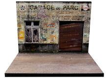 Diorama présentoir Garage abandonné - Abandoned garage - 1/43ème - #43-2-A-A-066