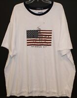 Polo Ralph Lauren Big and Tall Mens XLT White Polo Pony US Flag T-Shirt NWT XLT