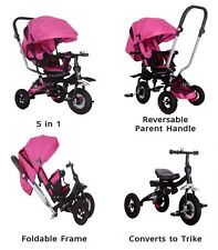 Little Bambino 5 IN 1 Tricycle Stroller Kids Children Baby Toddlers Trike - Pink