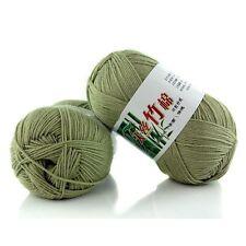 New 100% Bamboo Cotton Warm Soft Natural Knitting Bean green Wool Yarn 50g