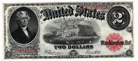 1917 $2 Bracelet Back Large Size Legal Tender Note AMAZING
