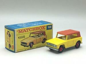 MATCHBOX FIELD CAR YELLOW WITH LIGHT BROWN ROOF NO 18