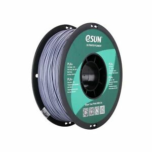 eSUN 1.75mm Gray PLA PRO (PLA+) 3D Printer Filament 1KG Spool (2.2lbs), Gray 15D