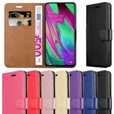 Case For Samsung Galaxy A10 A20E A40 A50 A70 Genuine Leather Wallet Flip Cover