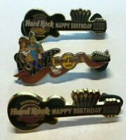 3 Seminole Hard Rock Hotel & Casino TAMPA FLORIDA 2009 Happy Birthday GUITAR PIN