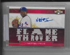 2011 Triple Threads - NEFTALI PEREZ - Autograph Game Jersey - RANGERS #d 17/18
