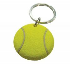 "*NEW* 3D RUBBER TENNIS BALL SHAPED KEYCHAIN 1.25"" DIAMETER. TENNIS GIFT"