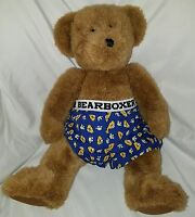 Build A Bear Plush Teddy Bear Stuffed Animal Brown Wearing Boxers Bearboxer 16""