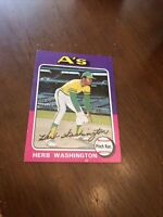 1975 Topps Card #407 Herb Washington RC, EX well centered  look!!!!!