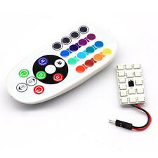 12 LED Remote Control 5050 SMD RGB Dome Light Reading Lamp Bulb T10 Festoon BA9S
