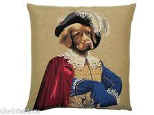 "18"" Aramis Three Musketeers Woven Belgian Tapestry Cushion 45cm Belgium Dog"