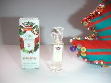 JOLIE  miniature  EAU N°3  de  SISLEY    pleine + boite   NEUVE
