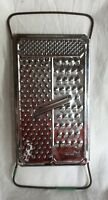 Vintage 4-In-1 Stainless Steel Grater Made In Hong Kong